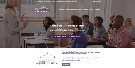 EZMarketing Designs & Develops New Website for Real Estate Education Center