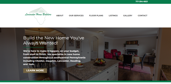 EZMarketing Designs & Develops New Website for Lancaster Home Builders