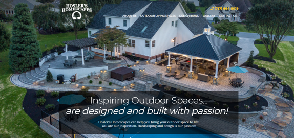 EZMarketing Designs New Website for Hosler's Homescapes