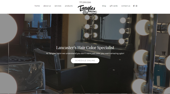 EZMarketing Designs & Develops New Website for Tangles Salon