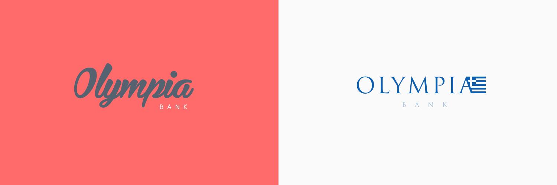Olympia Bank logos by Josh Kennedy