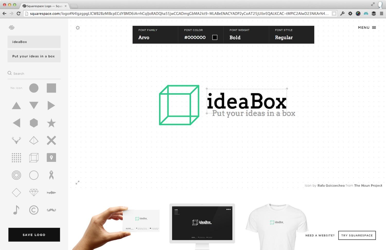 My awesome logo built with Squarespaces logo designer
