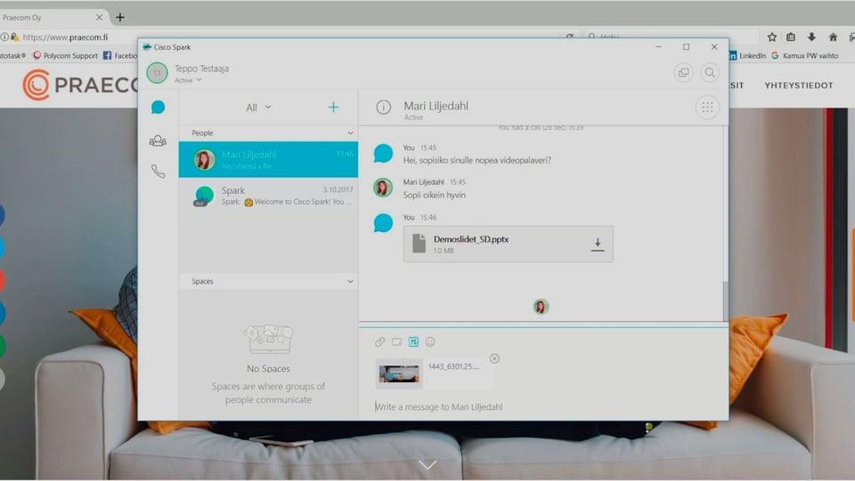 VIDEO: Cisco Sparkin käyttö osa 1