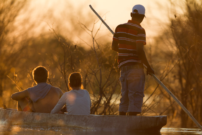 Canoe Safari In Botswana