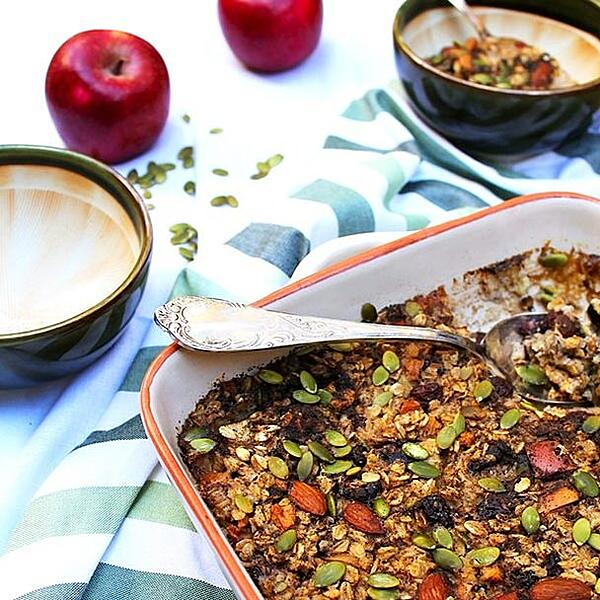 Apple & Cranberry Baked Muesli