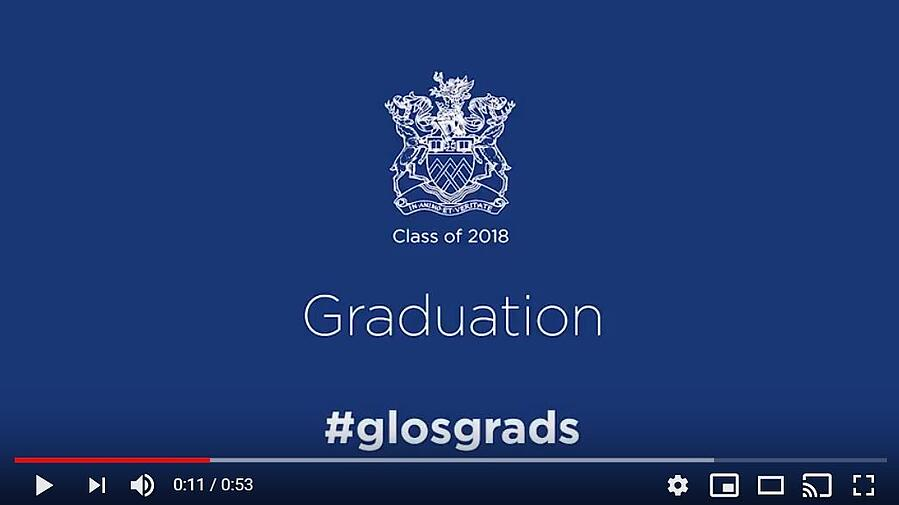 Time to Shine! University of Gloucestershire grads given clips.