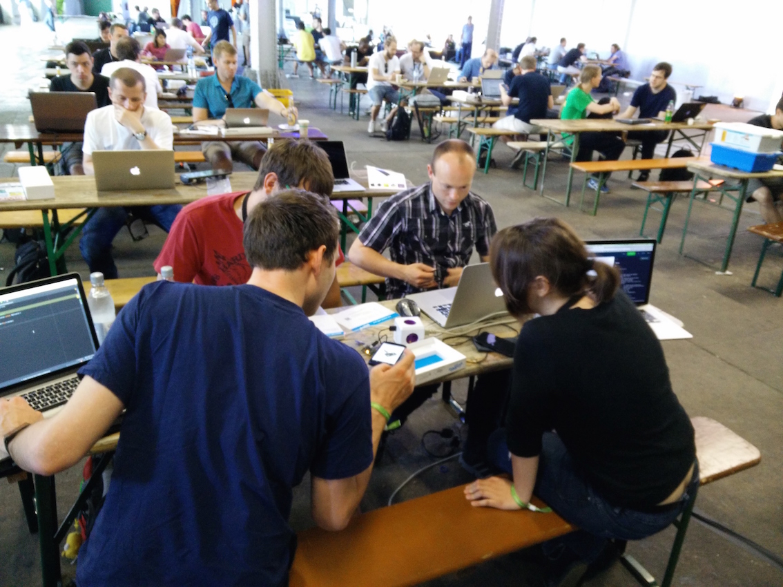 Hacking away at droidcon berlin