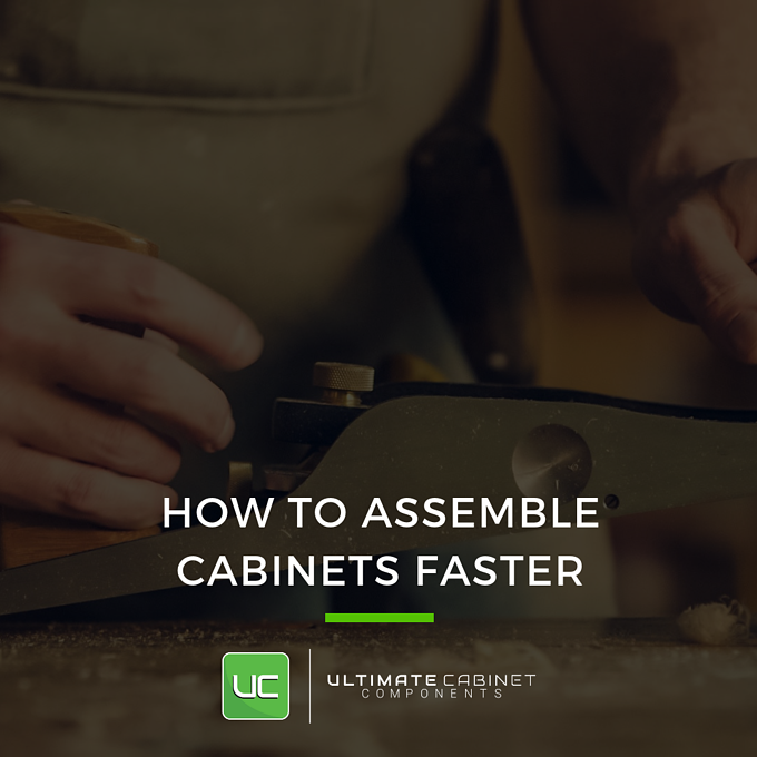 how to assemble cabinets faster