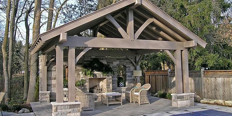 Build an outdoor living space and enhance your lifestyle with a Normerica timber frame structure