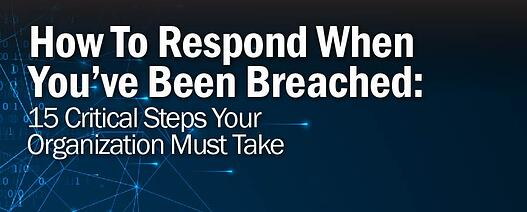 How To Respond When You've Been Breached: 15 Critical Steps Your Organization Must Take