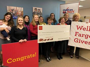 Child Care Aware of Missouri with their $25,000 check