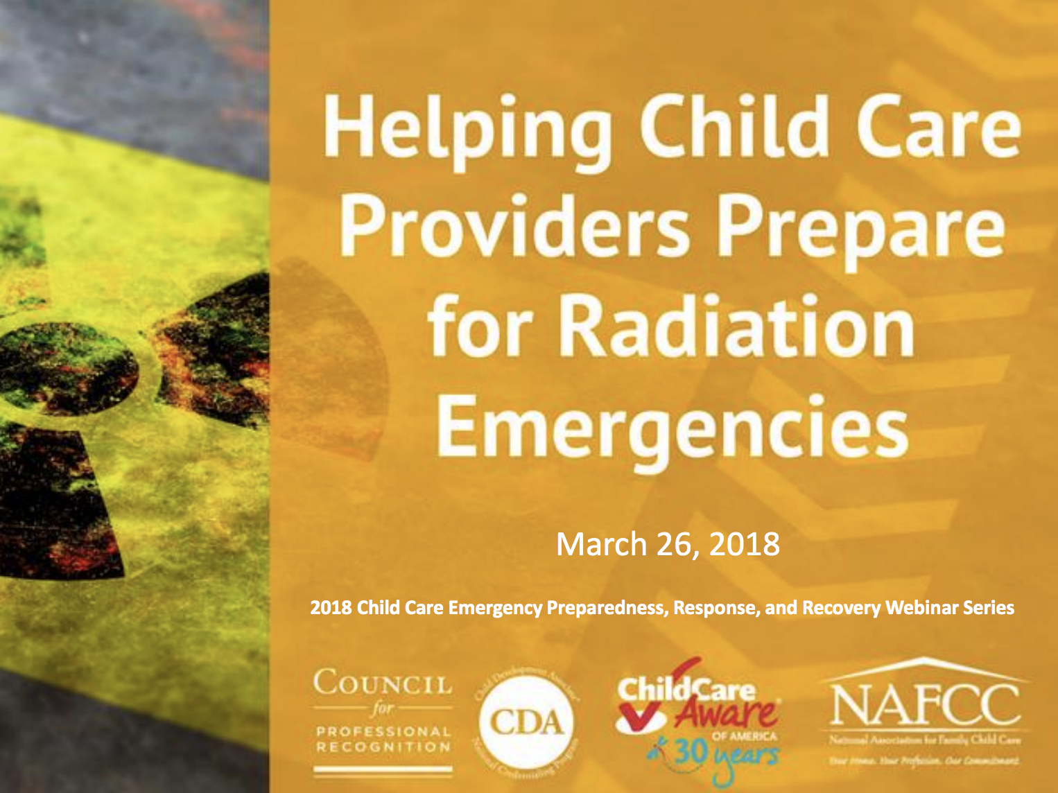 Heping Child Care Providers Prepare for Radiation Emergencies