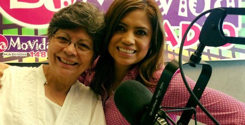 Romilia Schlueter on the radio