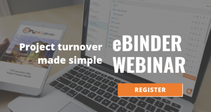 eBinder Webinar - Project Turnover Made Simple