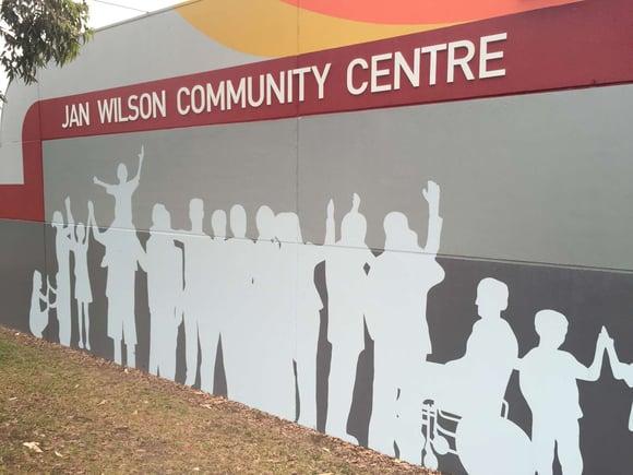 Community Centre external graphics