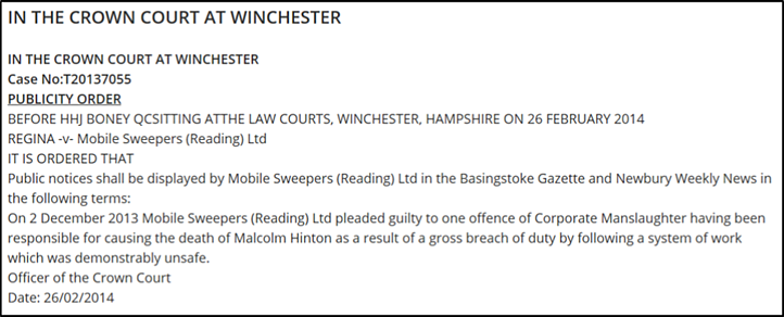 Corporate Manslaugter conviction of Mobile Sweepers (Reading) Ltd..png