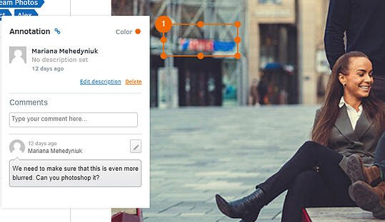 Using Annotation in FotoWare to share feedback