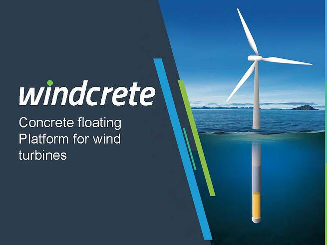 WindCrete: Concrete floating platform for wind turbin