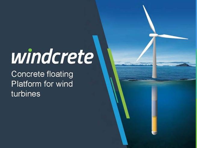 WindCrete: Concrete floating platform for wind turbin