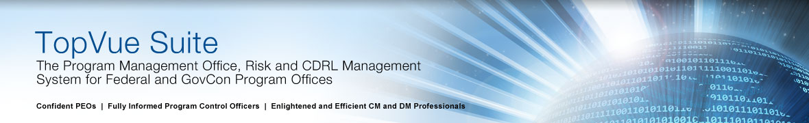 TopVue Suite - The PMO, Risk and CDRL Management System for Federal and GovCon Program Offices