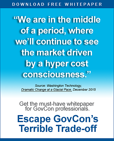 Download Escape GovCon's Terrible Trade-off Whitepaper