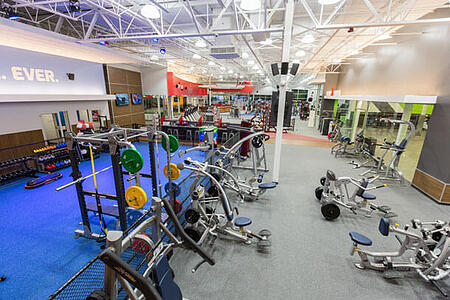 workout areas