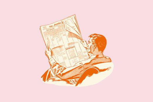 man-reading-paoer-illustration