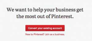 Pintrest for business