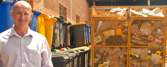Profitable shopping centre waste management