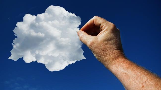 Cloud based software illustration