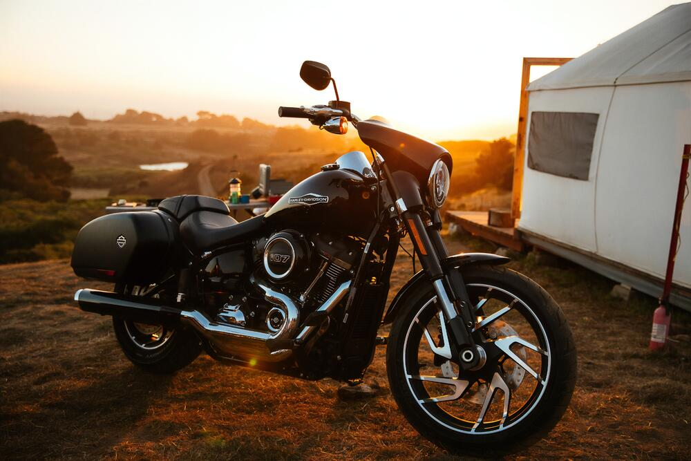 Motorcycle in the Sunset