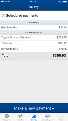 Mobile Banking Bill Pay