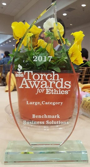 The Torch Award for Ethics embodies the BBB's mission of advancing marketplace trust.