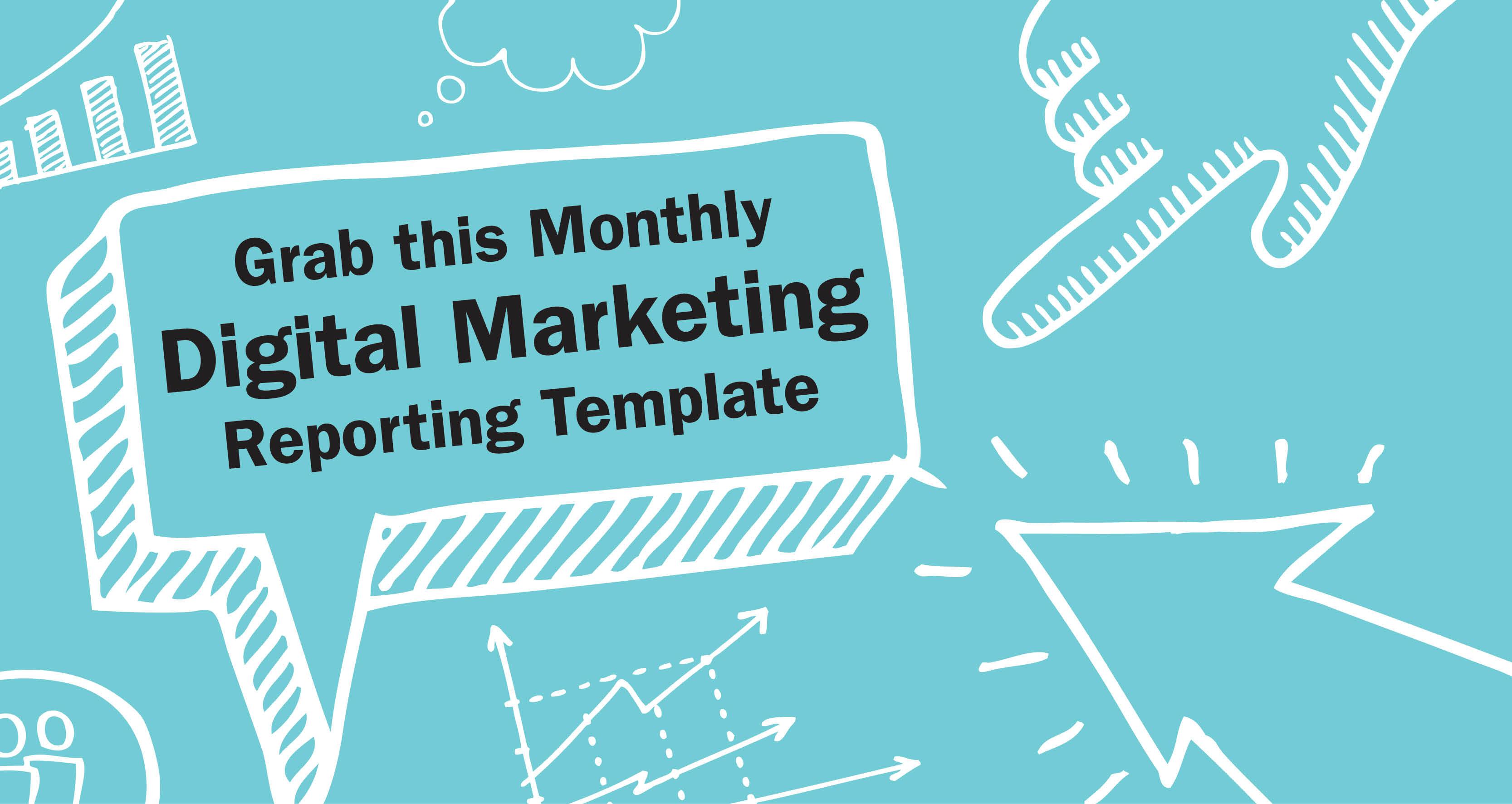 Free Digital Marketing Report template – Sample Marketing Report Templete