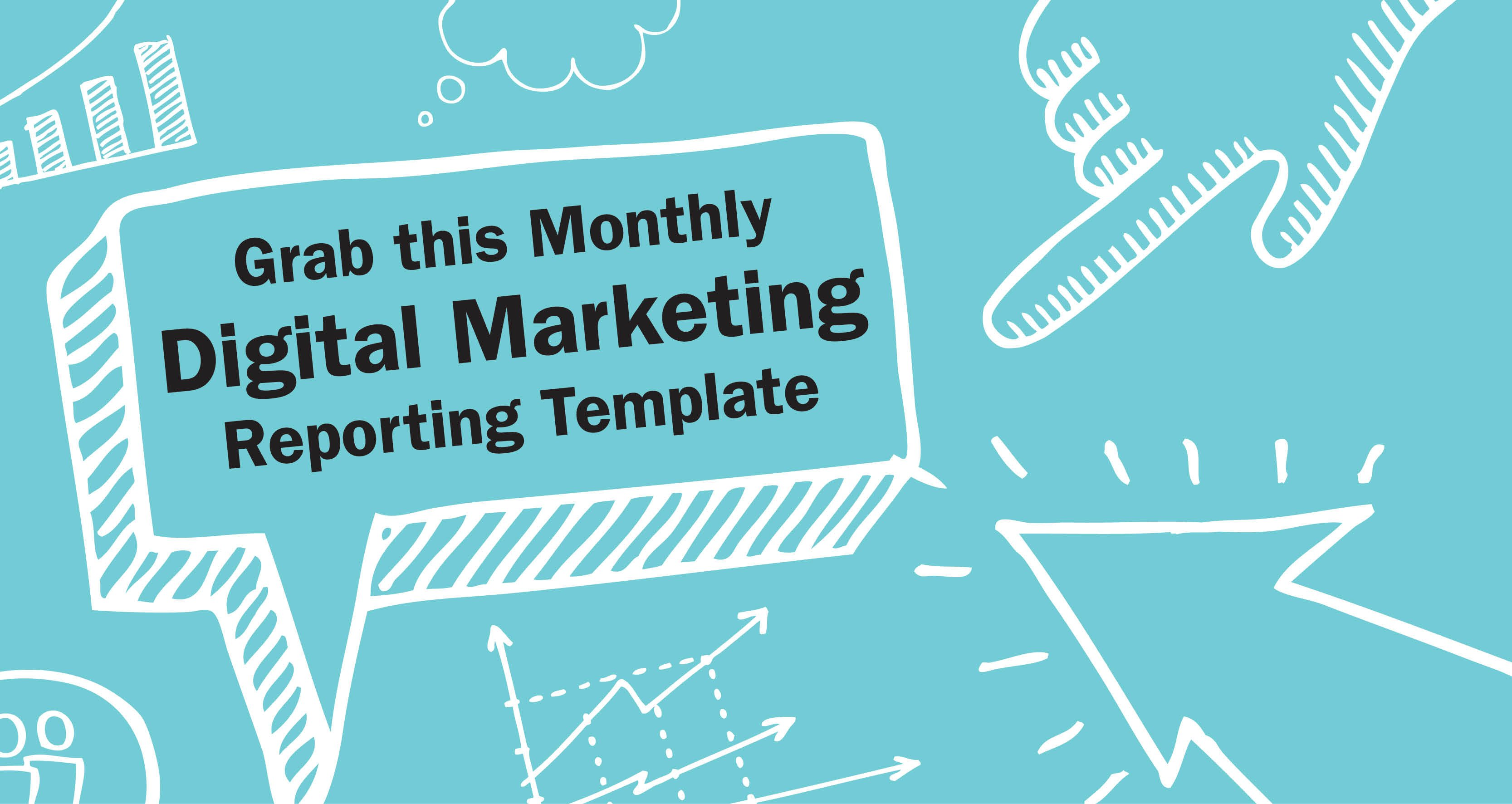 Free Monthly Digital Marketing Report Template  Lpo Template Word