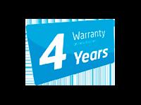 4 Jahre Garantie auf Bürsten