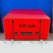 Enlarged crate height (400mm)