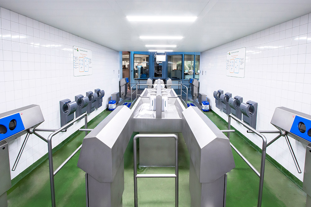 Hygiene lock for personal hygiene within the HACCP