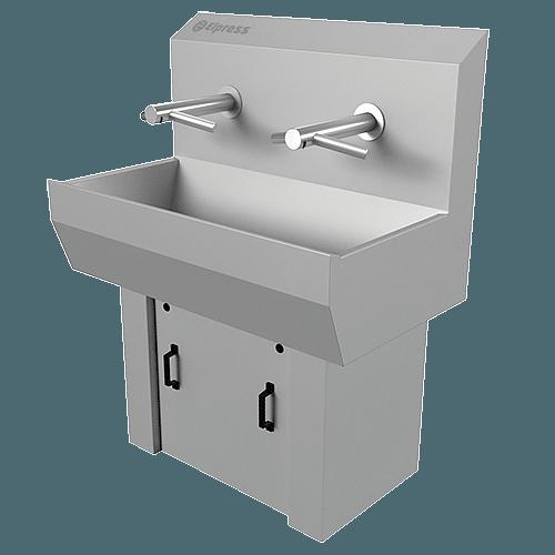 Wash basins with hand dryer