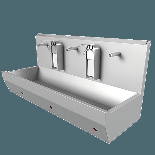 wastroggen met zeepdispensers