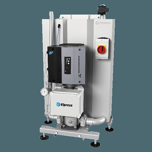 Durch den Einsatz eines Zwischenbehälters aus Edelstahl verfügt die Anlage über eine zugelassene Rückflusssperre.