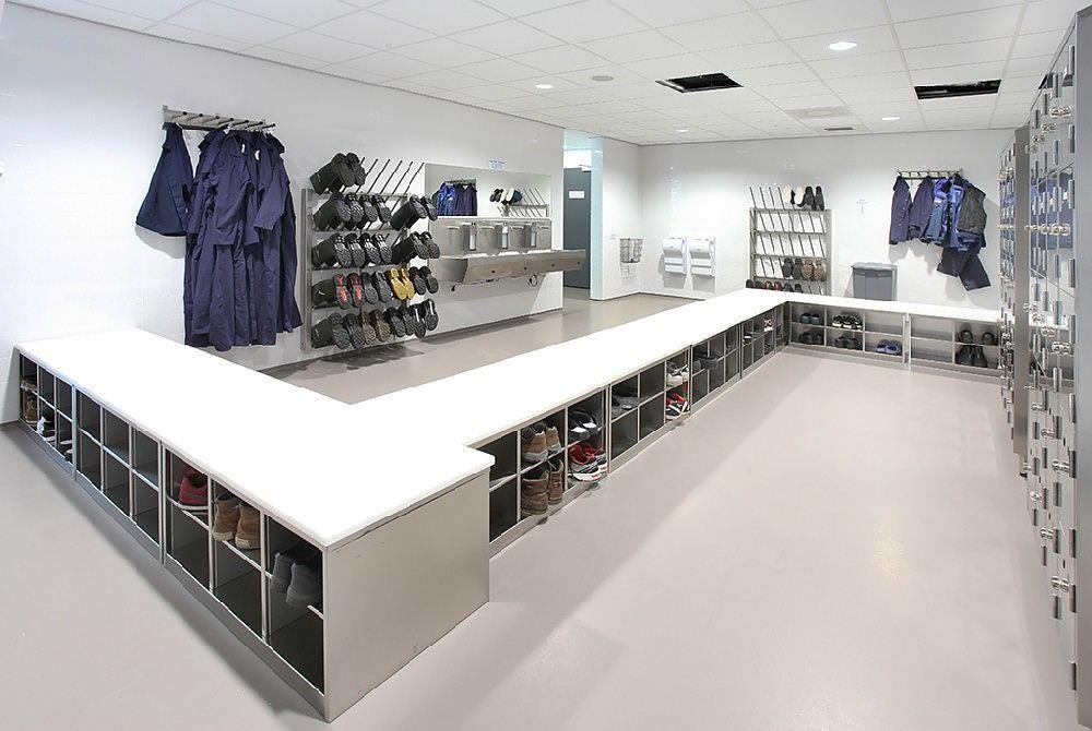 Hygiënefabrikant - Visscher - kleedruimte