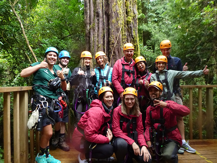 Eco tours group at Rotorua Canopy Tours