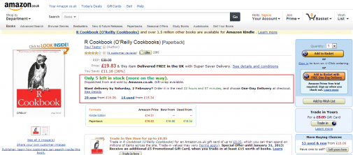 Amazon use stock and time based urgency to increase conversion rate