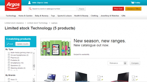 Argos use stock based urgency to increase conversions