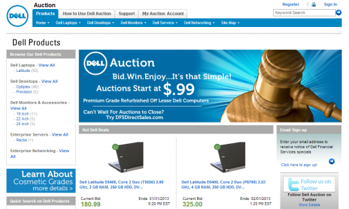 Amazon use auctions to increase online sales