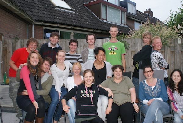 Me with my last small group in The Netherlands. I stayed in touch with a number of these students.