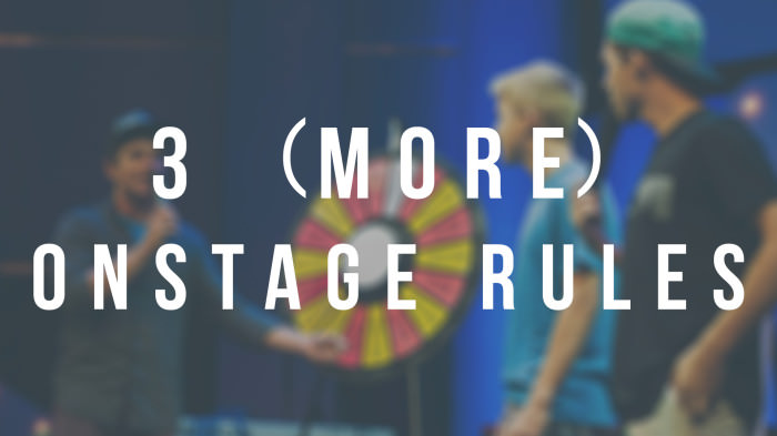 Onstage Rules