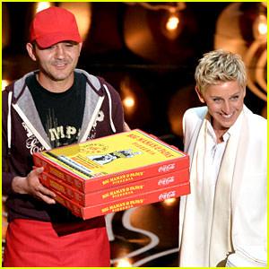 ellen-degeneres-serves-pizza-to-celebs-at-oscars-2014-video