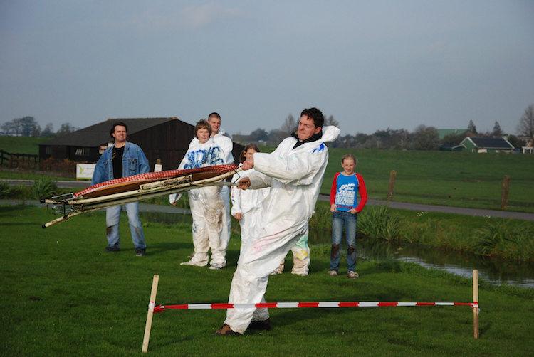 ironing board throwing